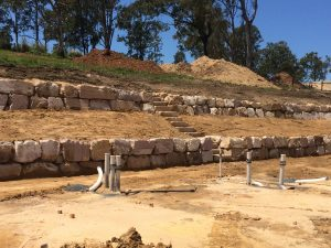 Sanstone Retaining Wall Brisbane North