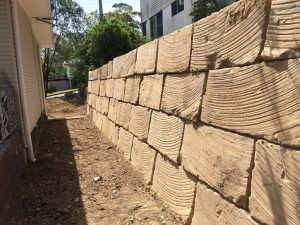 Rock Retaining wall Brisbane North