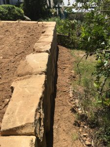 Boulder Retaining wall Brisbane North