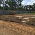 Boulder Retaining Wall with Steps North Brisbane