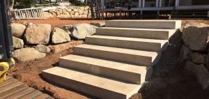 Sandstone Steps Retain Terrain