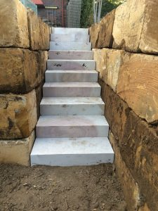 Steps for Rock Retaining Wall Brisbane