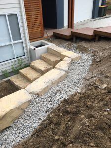 Steps for Rock Retaining Walls