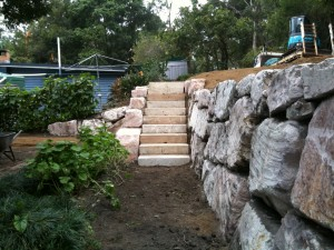 Retain Terrain Sandstone steps