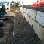 A Grade Sandstone Rock Wall