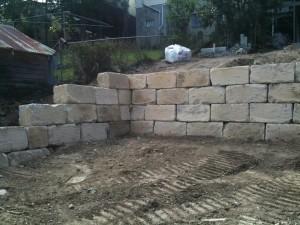 A Grade Sandstone Boulder Wall