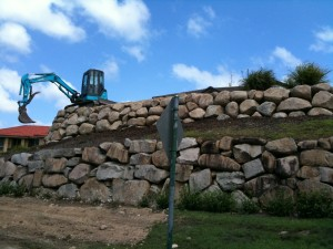 Retain Terrain rock retaining wall