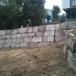 B Grade Sandstone Boulder Wall
