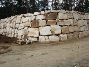 Random Sandstone boulder wall